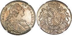 1 Thaler Elettorato di Baviera (1623 - 1806) Argento Massimiliano III di Baviera(1727 – 1777)