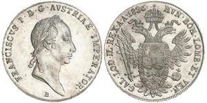 1 Thaler Impero austriaco (1804-1867) Argento Francis II, Holy Roman Emperor (1768 - 1835)