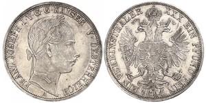 1 Thaler Impero austriaco (1804-1867) Argento Franz Joseph I (1830 - 1916)