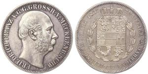 1 Thaler Meclemburgo-Schwerin (1352-1918) Argento Federico Francesco II di Meclemburgo-Schwerin