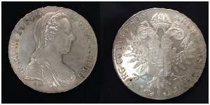 1 Thaler Monarchia asburgica (1526-1804) Argento Maria Theresa of Austria (1717 - 1780)