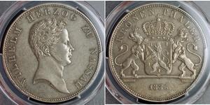 1 Thaler Nassau (stato) (1806 - 1866) Argento Guglielmo di Nassau