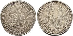 1 Thaler Principato Elettorale di Sassonia (1356 - 1806) Argento Cristiano II di Sassonia