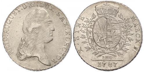 1 Thaler Principato Elettorale di Sassonia (1356 - 1806) Argento Augusto II di Polonia (1670 - 1733)