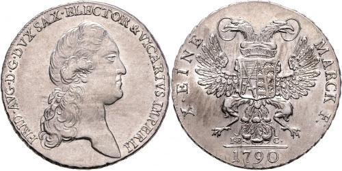 1 Thaler Principato Elettorale di Sassonia (1356 - 1806) Argento Federico Augusto I (re di Sassonia)