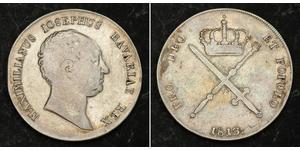1 Thaler Regno di Baviera (1806 - 1918) Argento Massimiliano I Giuseppe di Baviera (1756 - 1825)