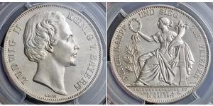1 Thaler Regno di Baviera (1806 - 1918) Argento Ludovico II di Baviera(1845 – 1886)