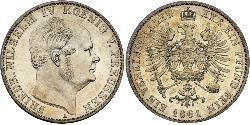 1 Thaler Regno di Prussia (1701-1918) Argento Federico Guglielmo IV di Prussia (1795 - 1861)