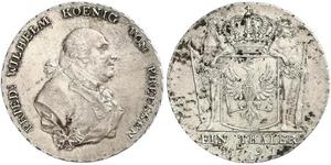 1 Thaler Regno di Prussia (1701-1918) Argento Federico Guglielmo II di Prussia