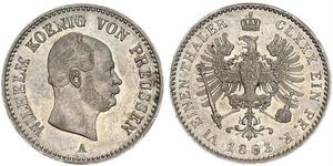 1 Thaler Regno di Prussia (1701-1918) Argento Wilhelm I, German Emperor (1797-1888)