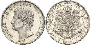1 Thaler Regno di Sassonia (1806 - 1918) Argento Giovanni di Sassonia