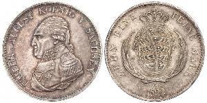 1 Thaler Regno di Sassonia (1806 - 1918) Argento Federico Augusto I (re di Sassonia)