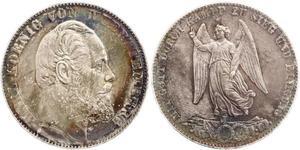 1 Thaler Regno di Württemberg (1806-1918) Argento Carlo di Württemberg