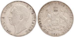 1 Thaler Regno di Württemberg (1806-1918) Argento Guglielmo I di Württemberg