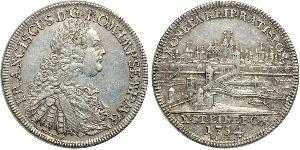 1 Thaler Sacro Romano Impero (962-1806) Argento Francesco I di Lorena(1708-1765)