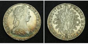 1 Thaler Sacro Romano Impero (962-1806) Argento Maria Theresa of Austria (1717 - 1780)