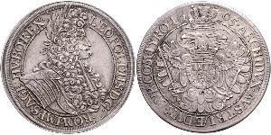 1 Thaler Sacro Romano Impero (962-1806) Argento Leopoldo I d