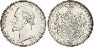 1 Thaler Stati federali della Germania Argento
