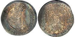1 Thaler Austria  Brass Leopold I, Holy Roman Emperor (1640-1705)
