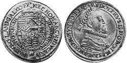 1 Thaler Alsacia Plata Rodolfo II (1552 - 1612)