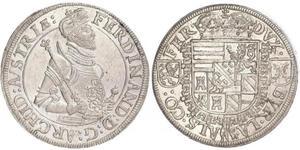 1 Thaler Alsacia Plata Fernando II de Austria (1529 – 1595)