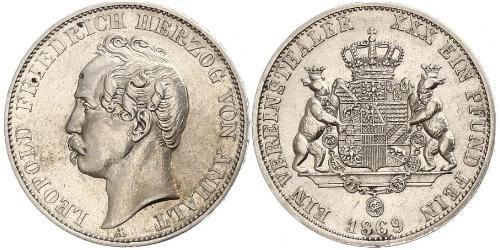 1 Thaler Anhalt-Dessau (1603 -1863) Plata Leopoldo IV de Anhalt (1794 – 1871)