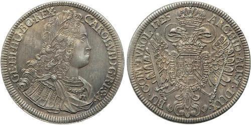 1 Thaler Austria Plata Carlos VI, Emperador del Sacro Imperio Romano (1685-1740)