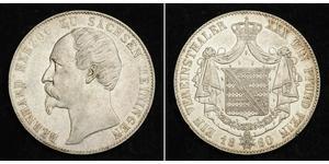 1 Thaler Ducado de Sajonia-Meiningen (1680 - 1918) Plata Bernardo II de Sajonia-Meiningen