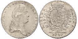 1 Thaler Electorado de Sajonia (1356 - 1806) Plata Augusto II de Polonia (1670 - 1733)