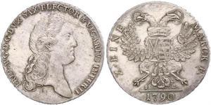 1 Thaler Electorado de Sajonia (1356 - 1806) Plata Federico Augusto I de Sajonia