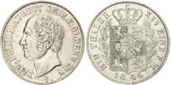 1 Thaler Grand Duchy of Oldenburg (1814 - 1918) Plata Augusto de Oldenburgo