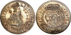 1 Thaler Habsburg Empire (1526-1804) Plata Leopoldo V de Habsburgo (1586 – 1632)