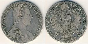1 Thaler Habsburg Empire (1526-1804) Plata Maria Theresa of Austria (1717 - 1780)
