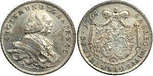 1 Thaler Habsburg Empire (1526-1804) Plata Sigismund von Schrattenbach