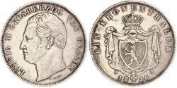 1 Thaler Hesse-Darmstadt (1806 - 1918) Plata Luis II de Hesse-Darmstadt