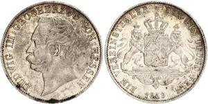 1 Thaler Hesse-Darmstadt (1806 - 1918) Plata Luis III de Hesse-Darmstadt