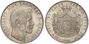 1 Thaler Hesse-Darmstadt (1806 - 1918) Plata Fernando de Hesse-Homburg