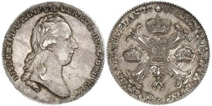 1 Thaler Imperio austríaco (1804-1867) Plata