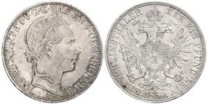1 Thaler Imperio austríaco (1804-1867) Plata Franz Joseph I (1830 - 1916)