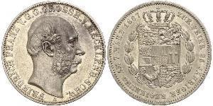 1 Thaler Mecklemburgo-Schwerin (1352-1918) Plata Federico Francisco II de Mecklemburgo-Schwerin