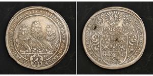1 Thaler Principado de Ansbach (1398–1792) Plata