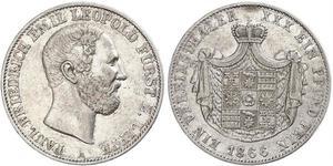 1 Thaler Principado de Lippe (1123 - 1918) Plata Leopoldo III de Lippe