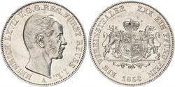 1 Thaler Principado de Reuss (línea mayor) (1778 - 1918) Plata Enrique LXVII de Reuss (línea menor)