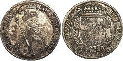 1 Thaler Principality of Transylvania (1571-1711) Plata Gabriel Bethlen, Príncipe de Transilvania (1580-1629)
