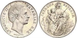 1 Thaler Reino de Baviera (1806 - 1918) Plata Luis II de Baviera(1845 – 1886)