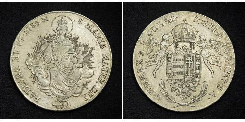 1 Thaler Reino de Hungría (1000-1918) Plata Joseph II, Holy Roman Emperor  (1741 - 1790)