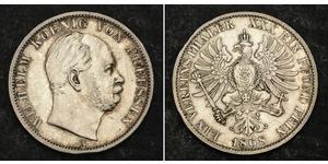 1 Thaler Reino de Prusia (1701-1918) Plata Wilhelm I, German Emperor (1797-1888)