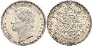 1 Thaler Reino de Sajonia (1806 - 1918) Plata Juan I de Sajonia