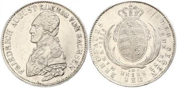1 Thaler Reino de Sajonia (1806 - 1918) Plata Federico Augusto I de Sajonia