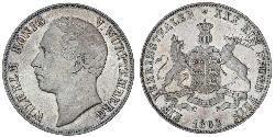1 Thaler Reino de Wurtemberg (1806-1918) Plata Guillermo I de Wurtemberg